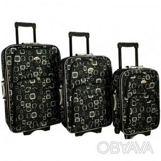 Дорожный чемодан сумка 773 набор 3 штуки Matrix  ХАРАКТЕРИСТИКА:  Корпус осн. Киев, Киевская область. фото 1