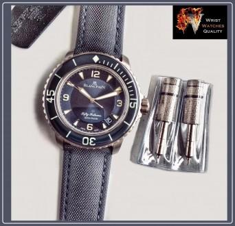 BLANCPAIN - Fifty Fathoms Automatic Blue Dial Titanium 45 mm Special Edition (R. Киев, Киевская область. фото 11