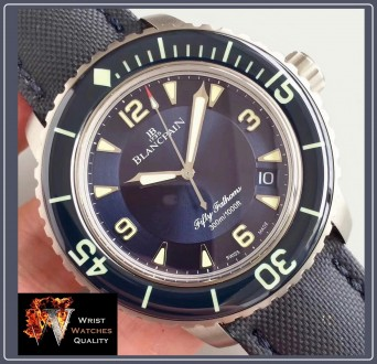 BLANCPAIN - Fifty Fathoms Automatic Blue Dial Titanium 45 mm Special Edition (R. Киев, Киевская область. фото 8