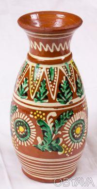 Ваза керамическая в украинском стиле. Днепр. фото 1