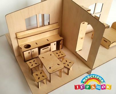Кукольный домик, 1 этаж, игрушечный домик. Одесса. фото 1