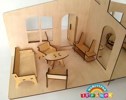 Разборной кукольный домик с мебелью из натурального материала – фанеры. Уникаль. Одесса, Одесская область. фото 6