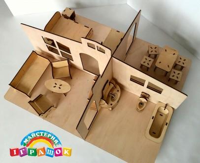 Разборной кукольный домик с мебелью из натурального материала – фанеры. Уникаль. Одесса, Одесская область. фото 8