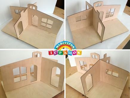 Разборной кукольный домик с мебелью из натурального материала – фанеры. Уникаль. Одесса, Одесская область. фото 4