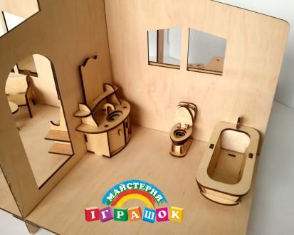 Разборной кукольный домик с мебелью из натурального материала – фанеры. Уникаль. Одесса, Одесская область. фото 7