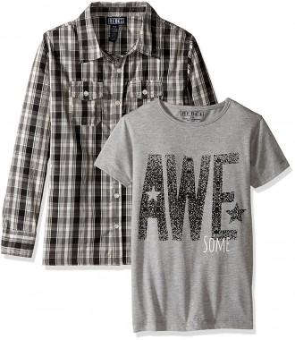 Комплект для мальчика рубашка и футболка Rebe1, 13-14 лет. Киев. фото 1