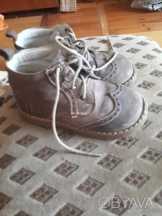 шкіряні черевики польської фірми етель, на шнурівках. демісезонні. Луцк, Волынская область. фото 1