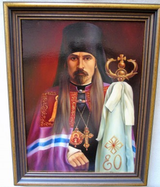 Картина, икона 'Архиепископ Курский Онуфрий'. х/м.. Полтава. фото 1