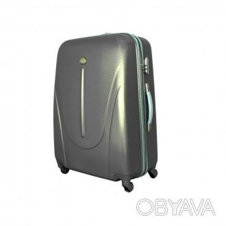 Чемодан сумка 882 XXL (большой) темно серый  Чемодан сумка 882 XXL из поликарб. Киев, Киевская область. фото 1