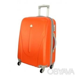 Чемодан сумка 882 XXL (большой) оранжевый  Чемодан сумка 882 XXL из поликарбон. Киев, Киевская область. фото 1