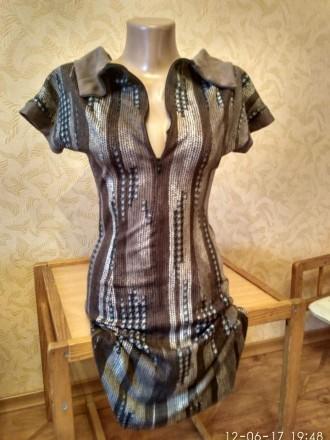 Элегантное летнее стрейчевое платье. Николаев. фото 1