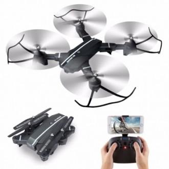 Квадрокоптер RC Drone WI-FI-камера+Led-подсветка + складывающийся корпус. Скадовск. фото 1
