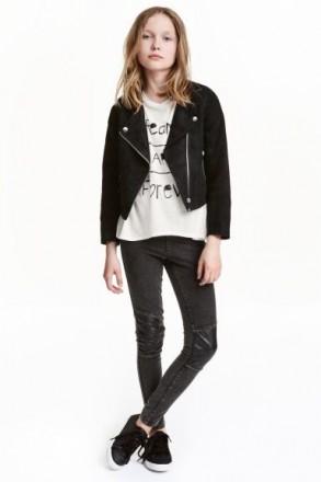 Куртка косуха H&M на девочку 8-9 лет/134 см, 10-11 лет/146 см 11-12 лет/152 см. Орехов. фото 1