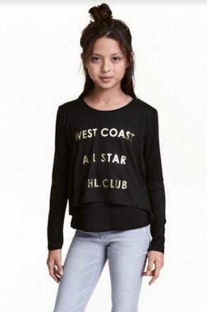 Реглан H&M на девочку 10-12 лет/146-152 см. Орехов. фото 1