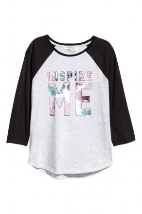 Реглан H&M на девочку 10-12 лет/146-152 см, 12-14 лет/158-164 см. Орехов. фото 1