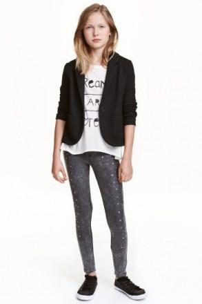 Пиджак H&M на девочку 13-14 лет/164 см. Орехов. фото 1