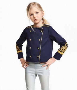 Пиджак H&M на девочку 7-8 лет/128 см. Орехов. фото 1