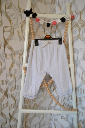 Штаники H&M на девочку 12-18 мес/86 см, 1,5-2 года/92 см. Орехов. фото 1