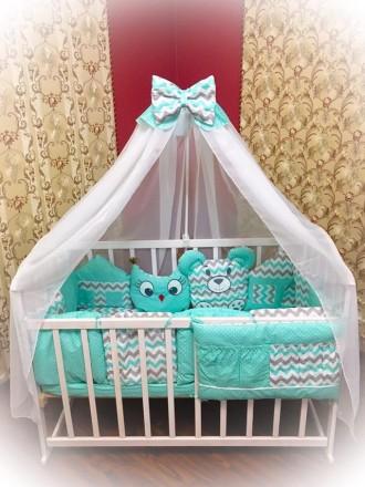 Комплект детского постельного белья в кроватку. Кропивницкий. фото 1