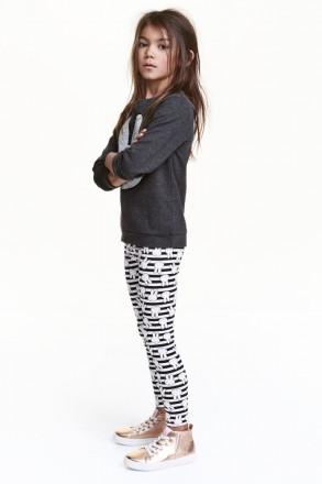 Лосины H&M на девочку 8-9 лет/134 см. Орехов. фото 1