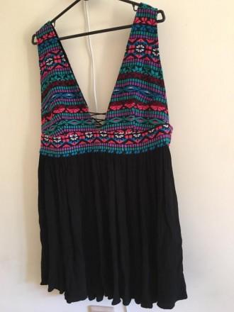 Платье-туника с вышивкой в стиле этно Atmosphere, размер L. Черновцы. фото 1