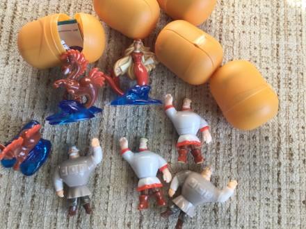 Новые игрушки с киндерсюпризов в капсулах с этикетками серия три богатыря и морс. Одесса, Одесская область. фото 3