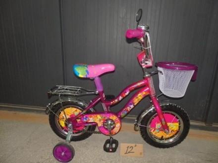 Детский велосипед WINX, ПРИНЦЕССА, ТАЧКИ+корзинка Azimut, Crosser. Одеса. фото 1