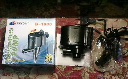 Помпа, фильтер компресор Resun B-1000-1000 л/ч для аквы 150-200л рыб. Киев. фото 1