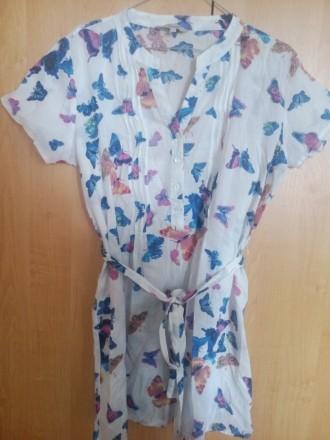 Платье-туника с принтом бабочки. Кременчуг. фото 1
