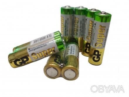 Качественные и надёжные щелочные (алкалиновые) батарейки GP LR 6 AA 1,5 V, не ну. Купянск, Харьковская область. фото 1