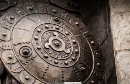 Щит старославянский, щит викингов - уникальная ручная работа. Скадовск. фото 1