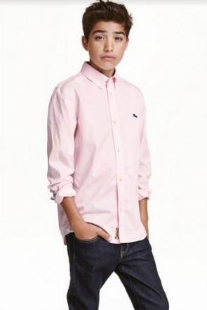 Рубашка H&M на мальчика 14+ лет/170 см. Орехов. фото 1