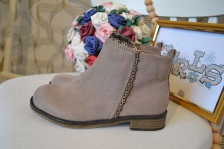 Стильные ботинки C&A на девочку 31 размер. Орехов. фото 1