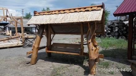 Продаются качели ,уличные комплекты садовой мебели из дерева. Южноукраинск, Николаевская область. фото 3