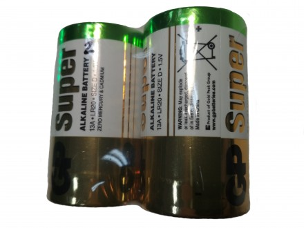 Батарейки для газовой колонки GP LR 20. Купянск. фото 1