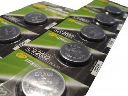 Щелочная батарейка для напольных весов GP CR 2032. Купянск. фото 1