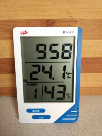 Метеостанция термометр- гигрометр КТ- 908. Херсон. фото 1