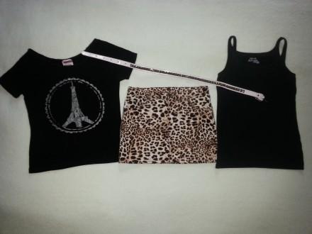 Спідниця юбка cпідничка H&M р. 152, кофта футболка майка р. 134/140.. Львов. фото 1