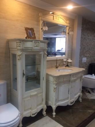 мебель в ванную Porcelanosa Louisiana 110 см. + витрина 65*149. Кременчуг. фото 1