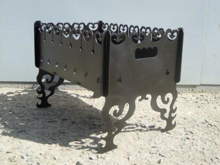 Мангал декоративный разборной на ножках. Днепр. фото 1