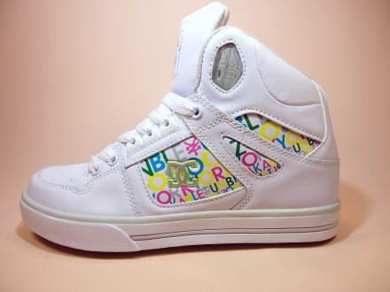 Женские, высокие, белые, демисезонные кроссовки сникерсы хайтопы на платформе.. Хмельницкий. фото 1