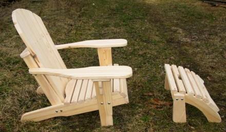 Кресло садовое Адирондак Гетьман . Большое масивное кресло для сада и дома . Ком. Радехов, Львовская область. фото 6