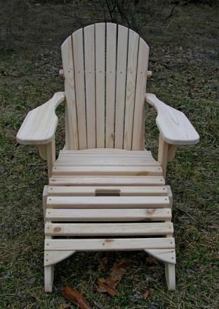 Кресло садовое Адирондак Гетьман . Большое масивное кресло для сада и дома . Ком. Радехов, Львовская область. фото 4