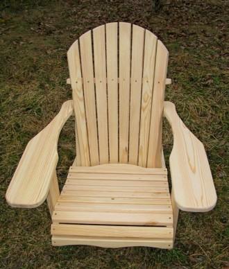 Кресло садовое Адирондак Гетьман . Большое масивное кресло для сада и дома . Ком. Радехов, Львовская область. фото 8