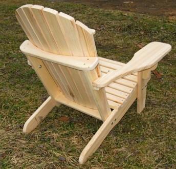 Кресло садовое Адирондак Гетьман . Большое масивное кресло для сада и дома . Ком. Радехов, Львовская область. фото 7