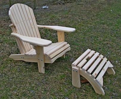 Кресло садовое Адирондак Гетьман . Большое масивное кресло для сада и дома . Ком. Радехов, Львовская область. фото 3