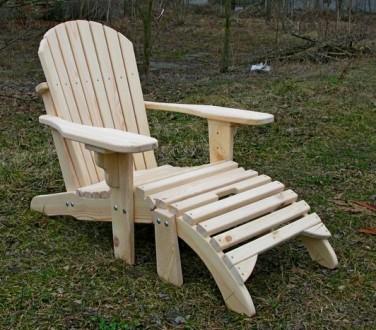 Кресло садовое Адирондак Гетьман . Большое масивное кресло для сада и дома . Ком. Радехов, Львовская область. фото 2