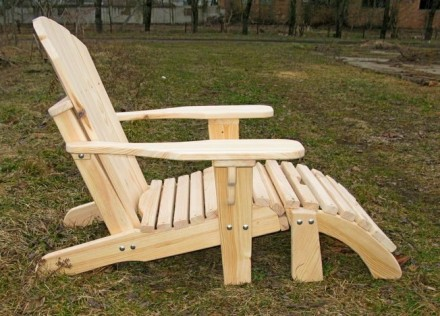 Кресло садовое Адирондак Гетьман . Большое масивное кресло для сада и дома . Ком. Радехов, Львовская область. фото 5