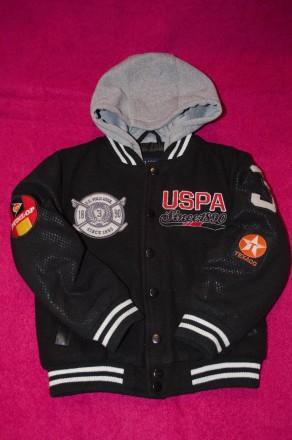 Крутая демисезонная стеганая куртка USPA. 5-6 лет.. Киев. фото 1