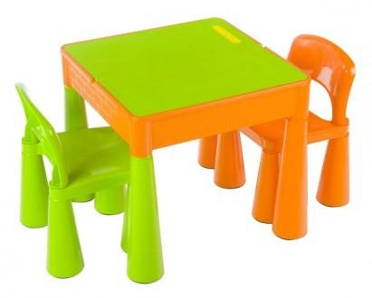 Столик и 2 стульчика Tega Baby Mamut(комплект оранжевый с зеленым(Orange Green). Киев. фото 1
